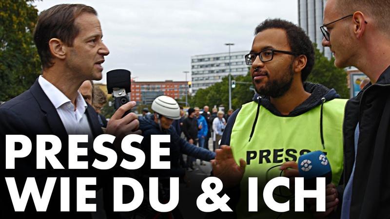 AfD-Politiker befragt sichtlich nervöse Reporter in Chemnitz und wird bedroht