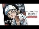 Clementine Gouache Speedpaint   Paint With Me