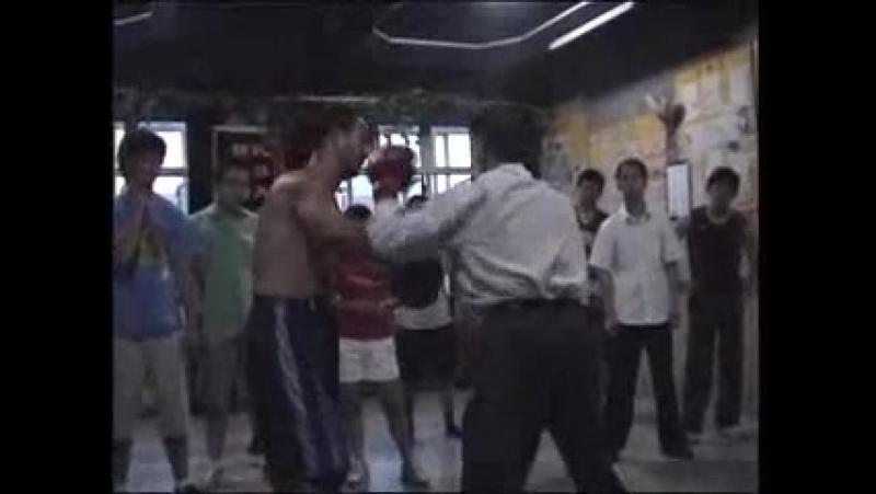 Yiquan boxing sanshou practice: Yao Chengrong.