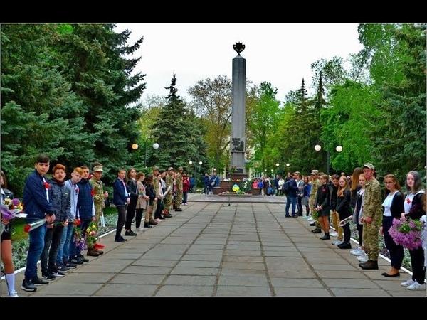 ДЕНЬ ПОБЕДЫ 2019 ВОЗЛОЖЕНИЕ ВЕНКОВ,ФРОНТОВЫЕ 100гр ч.2 Новая Каховка