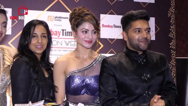 Chit Chat With Guru Randhawa And Urvashi Rautela at Bombay Times Fashion Week 20