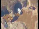 Кадры похищения бочек с хлором из штаба организации «Хайат Тахрир Аш-Шам»