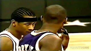 Allen IVERSON vs Kobe BRYANT - 1997 NBA Rookie Game!