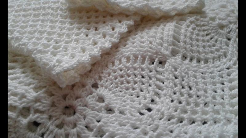 Квадратный мотив крючком Соединение квадратных мотивов Crochet motif