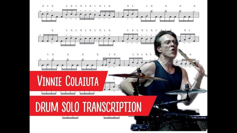 Vinnie Colaiuta drum solo transcription slow motion PDF