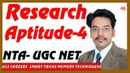 Research Aptitude 4 and Methodology NTA UGC NET Exam Qus 21 to 30 Part 4th in Hindi