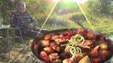 БАСМА узбекская в казане на природе