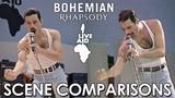 Live Aid Bohemian Rhapsody (2018) - scene comparisons