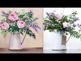 Impressionist Floral (Part 1) Acrylic Painting LIVE Instruction