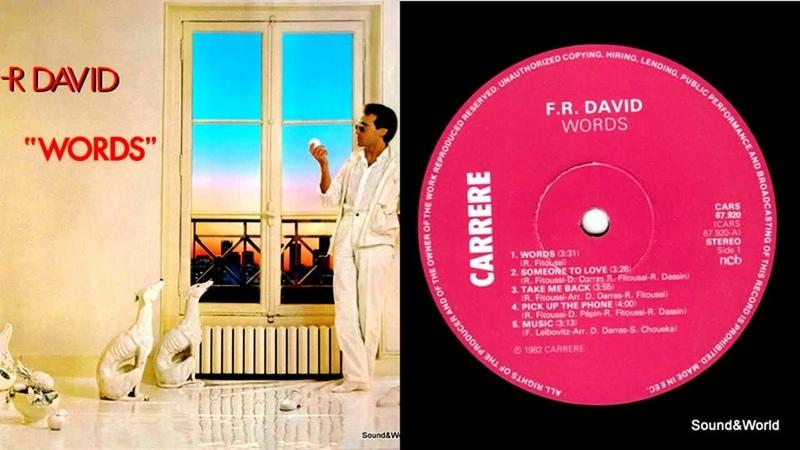 F.R. David – Words (Vinyl, LP, Album) 1982.