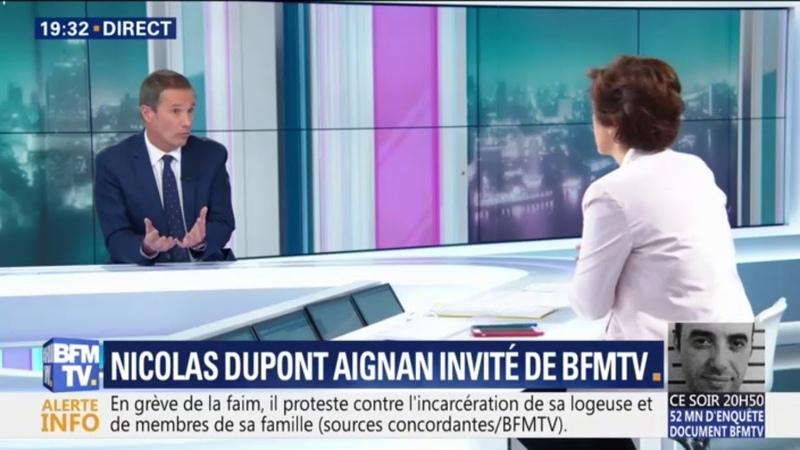 Je pense que l'échec d'Emmanuel Macron, c'est l'échec de l'apparence estime Nicolas Dupont-Aignan