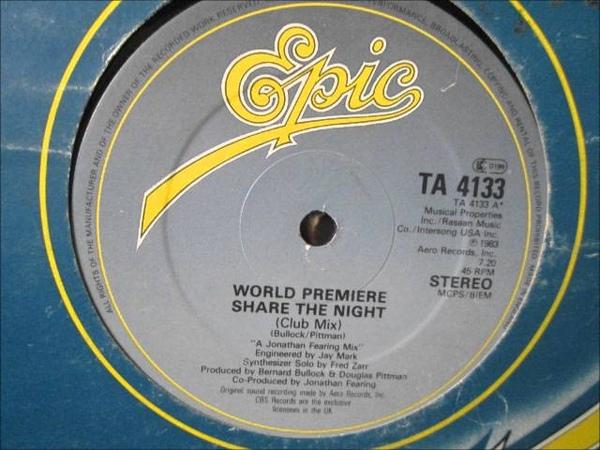 World Premiere - Share the night. 1983 (12 Soul/funk)