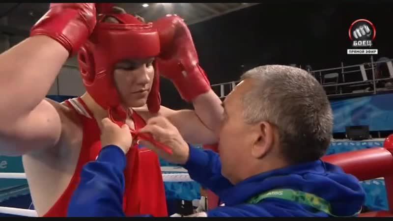 Финал ЮОИ по боксу, в котором казахстанец уступил чемпиону мира