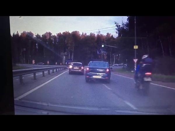 Авария. Мото. Выезд с фряновского шоссе на щёлковское.