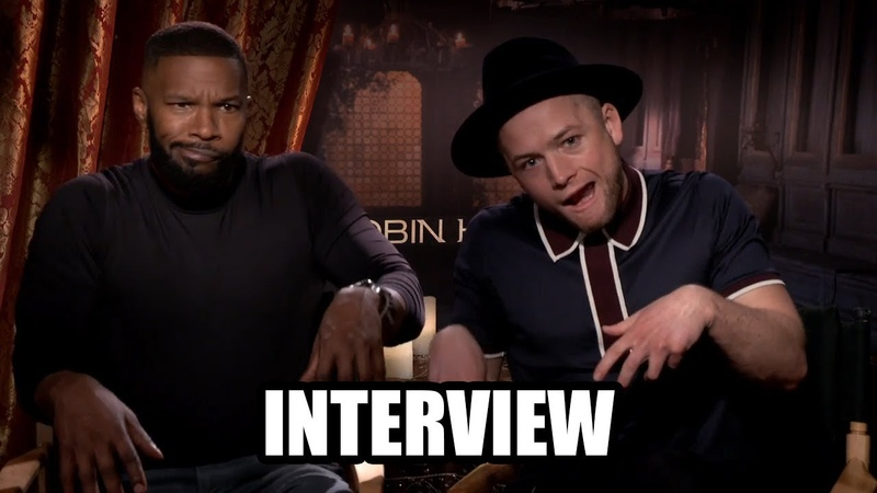 ROBIN HOOD - Jamie Foxx and Taron Egerton Interview (2018)