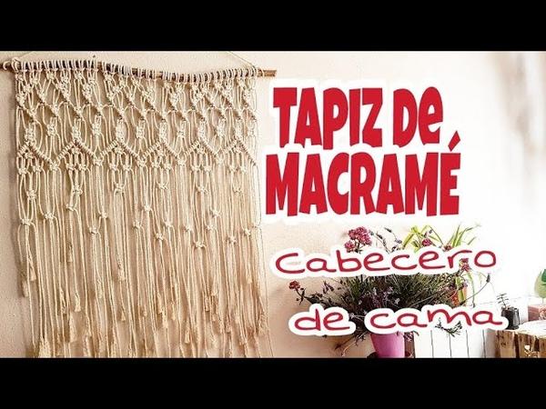 Tapiz de MACRAMÉ, Cabecero de cama de Macramé, Decoración del hogar, sobre cama de macrame