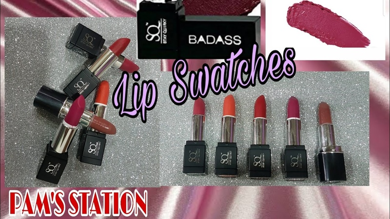 Affordable Super Matte Stay Quirky Lipsticks swatches for all Skin tone