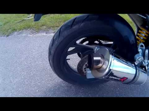 Yamaha TDM 850 Dominator exhaust soundcheck - Loud pipe without db killer!
