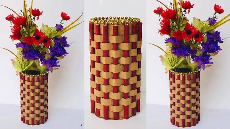 DIY Easy Paper Flower Vase How To Make a Flower Vase at Home Home Decor 38