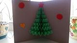 DIY 3D Открытка ЕЛОЧКА на НОВЫЙ ГОД How to make 3D Christmas Pop Up Card
