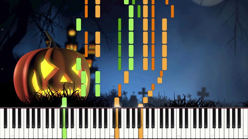 Wistful Waltz - Halloween Composition [Piano Duet] (Synthesia) Dot Piano