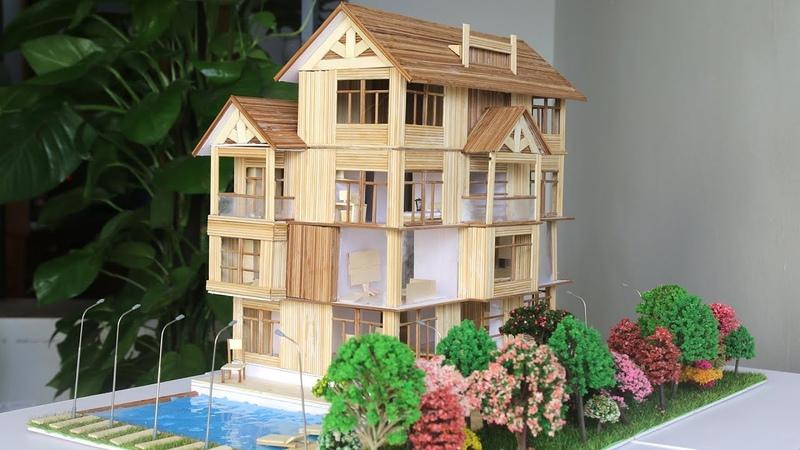 Làm biệt thự Tăm tre có hồ bơi, sân vườn và nội thất