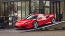 BRAND NEW Ferrari F8 Tributo Being Unloaded - Start Ups, Revs, Details!