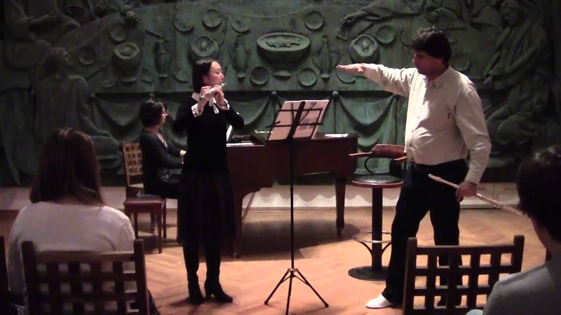 Master class on the flute Vincent LUCAS in Moscow. Mira KOSITSINA