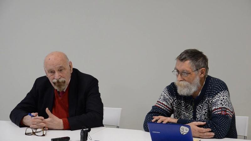 Валерий Борщев и Дмитрий Краюхин. Пресс-конференция в Орле