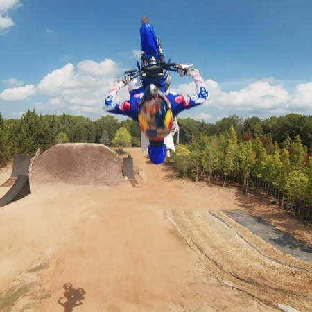 "Red Bull on Instagram: ""Probably the best drone video you've ever seen. 👊 🏍: @tompages 🎥: @tomzfpv followcam drone fmx motocross freestyle re..."