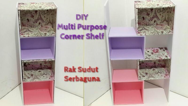 DIY Multi Purpose Corner Shelf / Rak Sudut Serbaguna