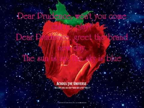 Dear Prudence - Dana Fuchs, Evan Wood, Jim Sturgess and Joe Anderson {Lyrics}
