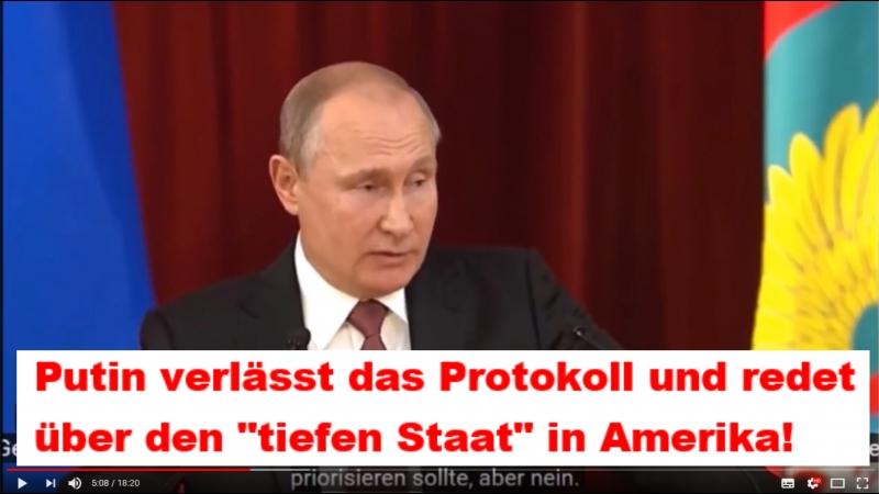 Putin verlässt das Protokoll und redet über den tiefen Staat in Amerika