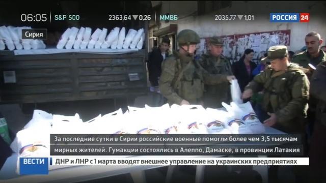 Новости на Россия 24 • В Алеппо, Дамаске и Латакии проведены очередные гуманитарные акции