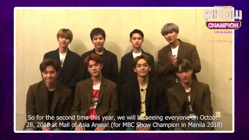 180918 EXO @ All Access Production Facebook Update