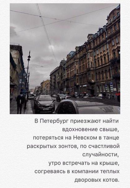 я могу перечислить миллион плюсов этого города, но лучше опишу петербург одной строчкой: «это город, в котором я как-то влюбился дважды за