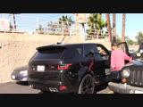 Video of Justin leaving Patys Restaurant in Toluca Lake, California (October 17)