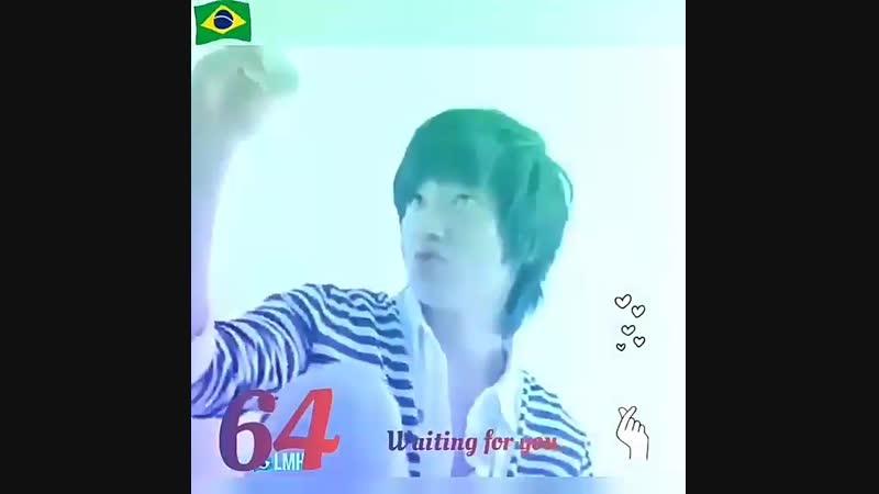 64 Waiting for you 💖Momentos fofos gravando Dunkin Donuts👏💕cr. brazil_with_leeminho