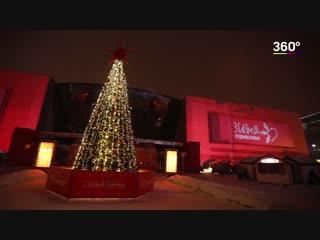 Грандиозное световое шоу в Подмосковье