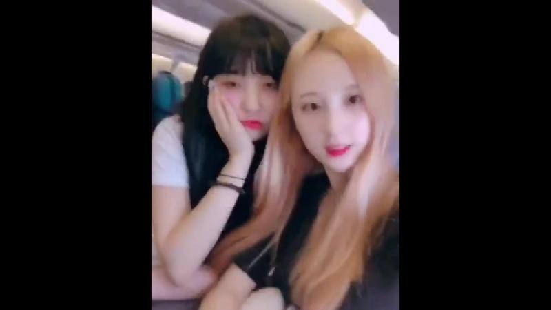 룸메이트 가을 세빈은 비행기에서도 짝꿍 ️ - SIS 에스아이에스 - 가을 세빈 GAEUL SEBIN - 일상 daily 걸그룹 느낌이와 - kpop idol Malaysia tour