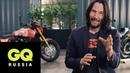 Киану Ривз показывает свою коллекцию мотоциклов