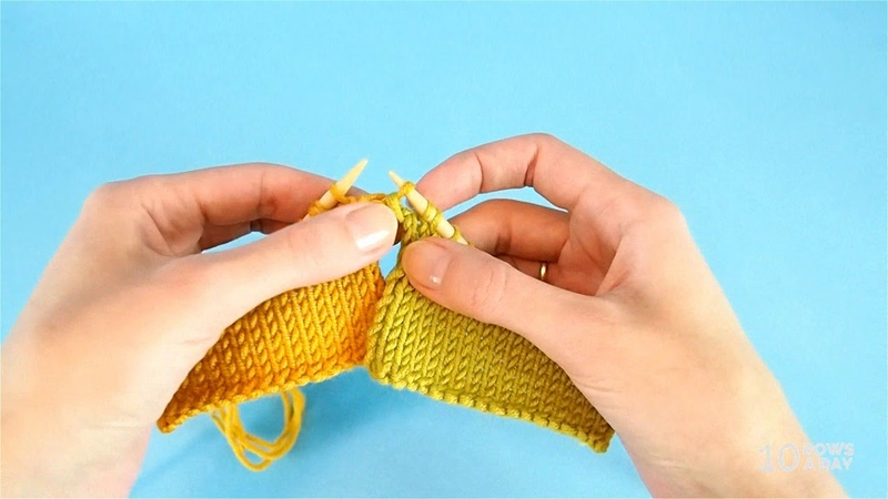 Three-needle bind off on two needles - a simple way to make a horizontal seam in knitting