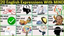 ✅20 English Expressions with MIND | Learn English Through Pictures (2019)