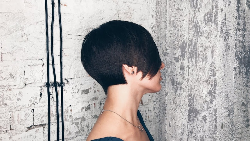 How to cut sharp women's haircut with long fringe