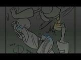 Undertale комикс | Fontcest | Наказание для Санса | 2 | 18+