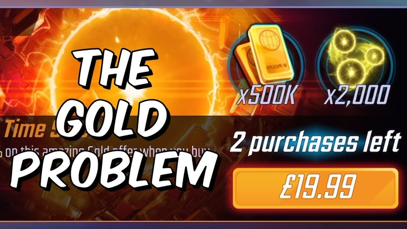 The Gold Problem - Low Drop Rates Terrible Value - Marvel Strike Force