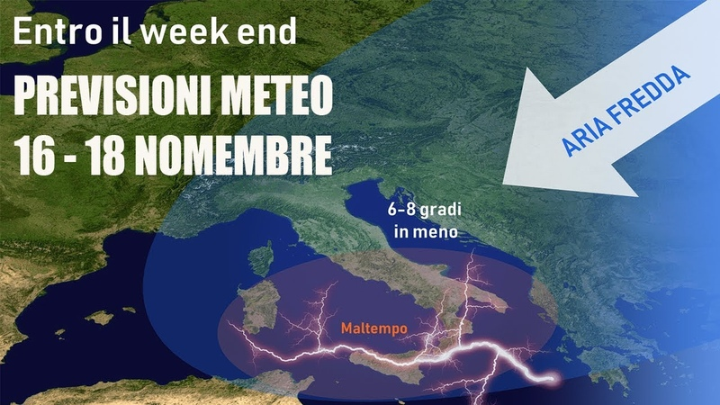 METEO ARIA FREDDA IN ARRIVO. WEEKEND ARTICO 16 -18 NOVEMBRE
