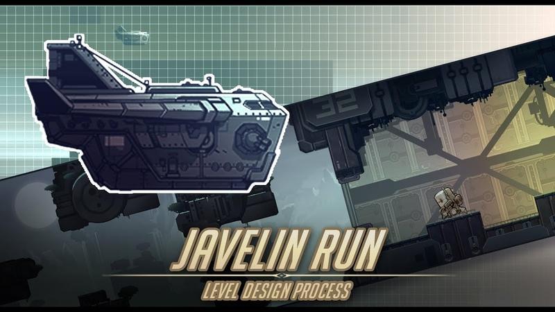 Javelin Run - indie game stage design art process