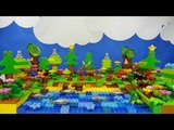 Строим из Lego Duplo, Build and Play toys Lego, играем с Лего Дупло - forest lake (лесное озеро)
