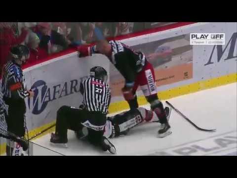 Lukáš Krajíček (Třinec) vs Jordan Perret (Pardubice)